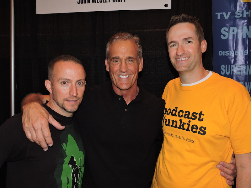 Martin and Brian with John Wesley Shipp, the original Flash